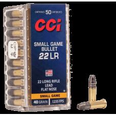 MUNICAO CALIBRE 22 LR SMALL GAME-BULLET 40 GR CX50 UND