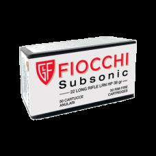 Munição Fiocchi 22 LR Subsonic 38gr – Cx 50