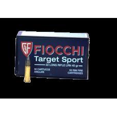 Munição Fiocchi 22 LR Target Sport 40gr – Cx 50