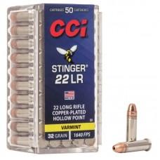 MUNICAO CALIBRE 22 LR STINGER HP AMMO (50UND)