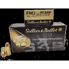 MUNIÇÃO 40 SELLIER E BELLOT FMJ 165GR CX50