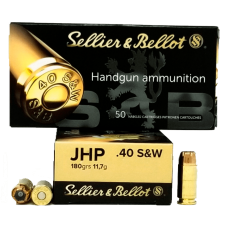 MUNIÇÃO 40 SELLIER E BELLOT JHP 180GR CX50
