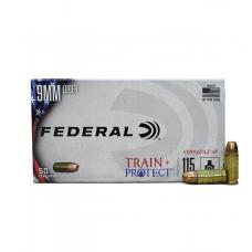 Munição Federal Train + Protect 9mm Luger VHP 115 Grains – Cx 50